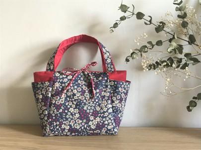 cabas frou frou paris liberty fleur couture tissus sac encours vieille morue 8