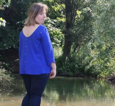 joli lab blouse poppy kit couture box viscose boutons dos vieille morue 7