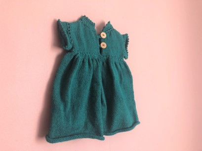 vieille morue phildar lambswool emeraude robe isis layette tricot crochet 6 mois automne hiver 9