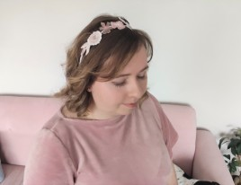 headband couronne fleurs brodées broderie artesane atelier by martine biessy au ver à soie vieille morue 1