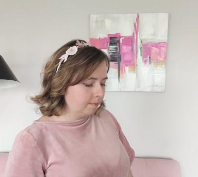 headband couronne fleurs brodées broderie artesane atelier by martine biessy au ver à soie vieille morue 4