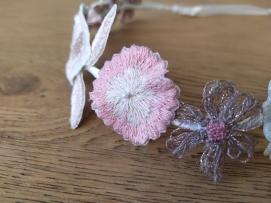 headband couronne fleurs brodées broderie artesane atelier by martine biessy au ver à soie vieille morue 5