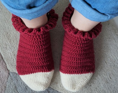 chaussettes volants fait main crochet magazine vieille morue phildar phil folk drops fabel 10