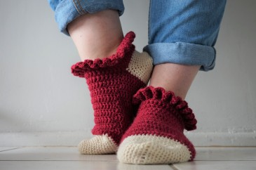 chaussettes volants fait main crochet magazine vieille morue phildar phil folk drops fabel 6