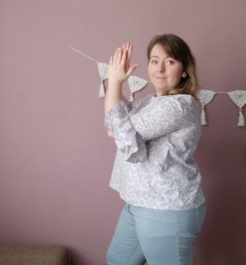 blouse couture falbala wear lemonade make my lemonade manche volants tissu la droguerie vieille morue 7