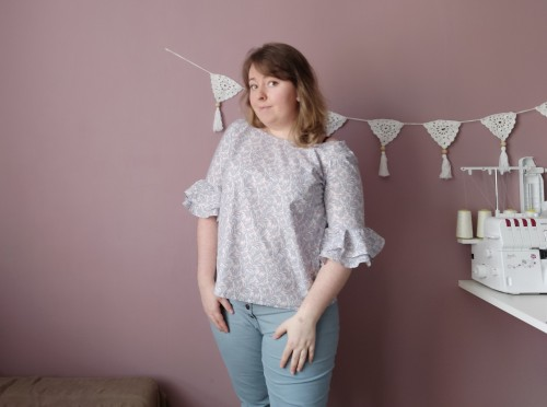 blouse couture falbala wear lemonade make my lemonade manche volants tissu la droguerie vieille morue 8
